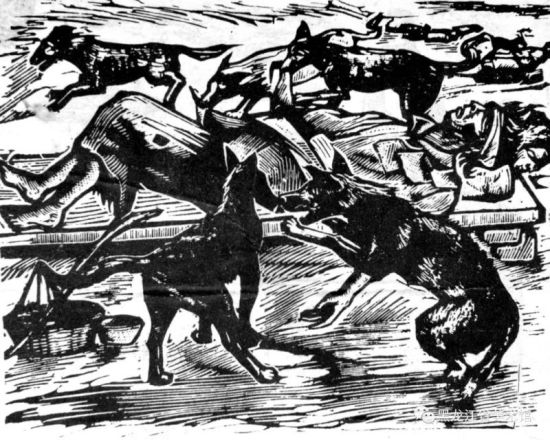 版画 骨肉流离道路中 1936年