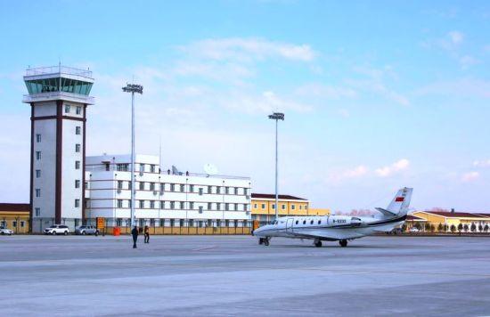 五大连池德都机场迎来校验飞机