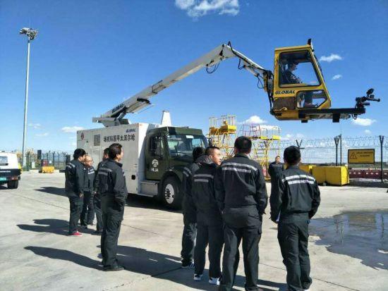 哈机场机务保障部开展冬季应急演练